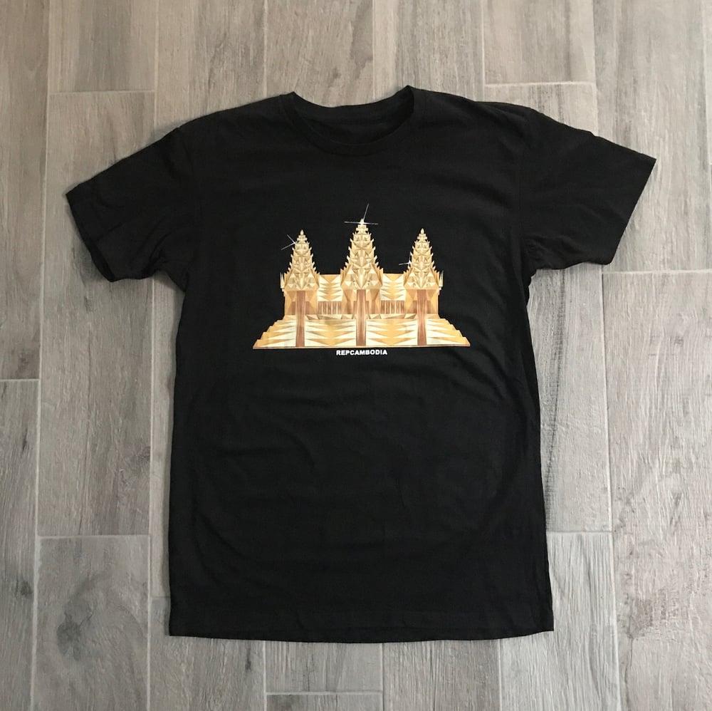 Image of 3D Gold Angkor Wat Tee