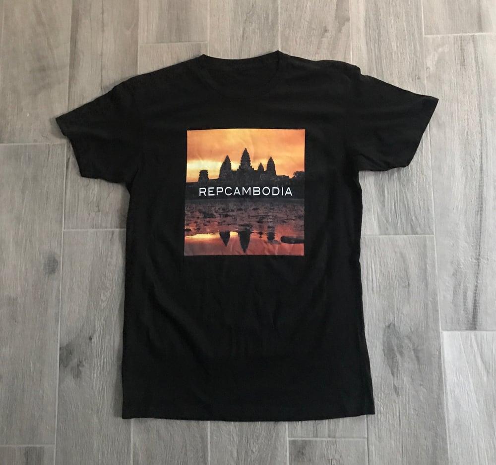 Image of Angkor Wat Sunset Tee (Black)