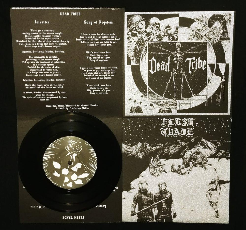 "Image of Dead Tribe/Flesh Trade split 7"""