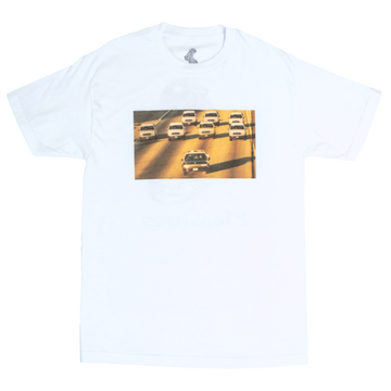 Image of PLEASURES - COP CHASE' T-SHIRT (WHITE)
