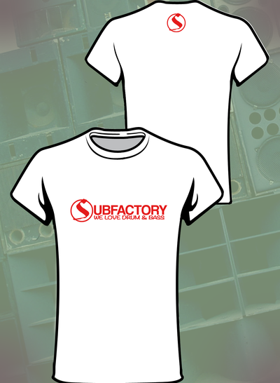 Image of Girls Subfactory 'We Love Drum & Bass' Tee White