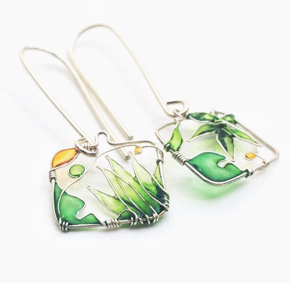 Image of In The Garden Silver Earrings