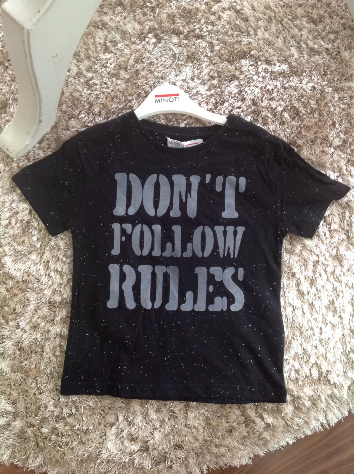 """Image of Boys tee """"don't follow rules"""""""