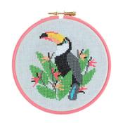 Image of Toucan cross-stitch kit