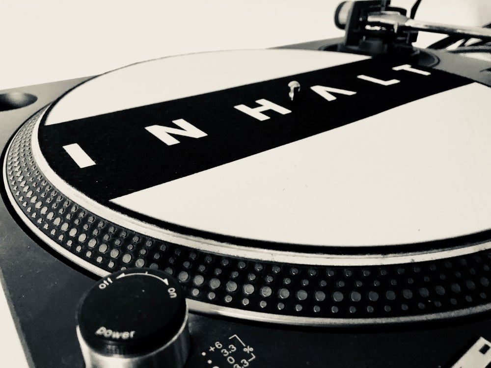 Image of INHALT Logo Turntable Slipmat