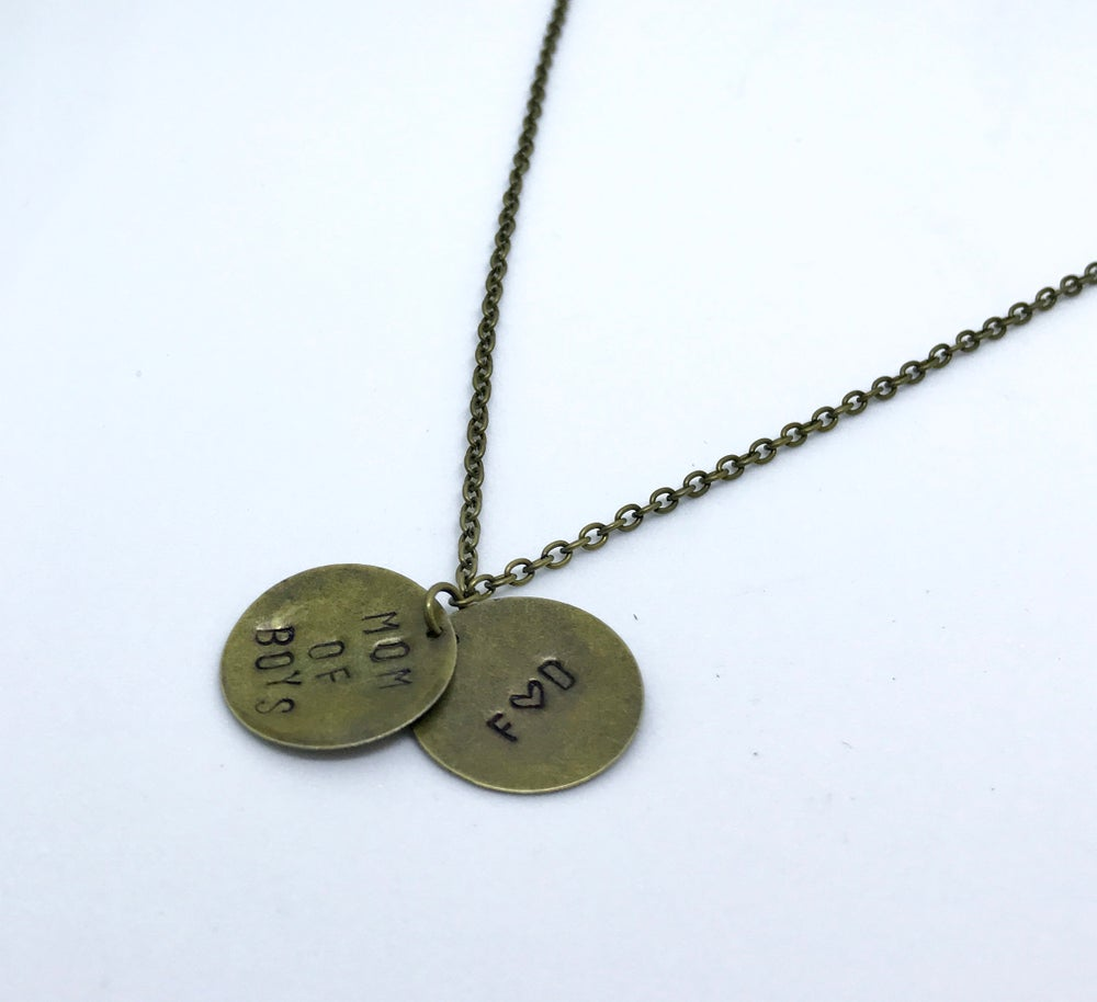 Image of Personalised Disc Necklace (1, 2 or 3 discs)