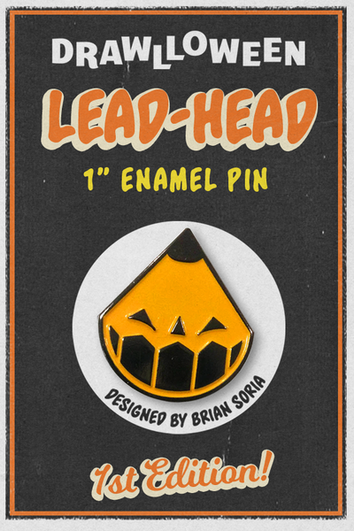 "Image of 1"" Lead Head Enamel Pin"