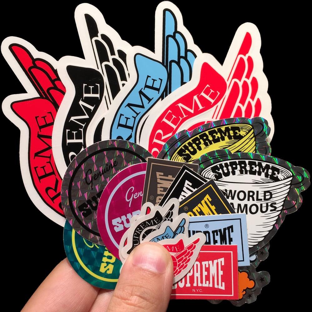 Image of 0000 & 2000 Lowdown Stickers (Jordan/Ari/Everlast)