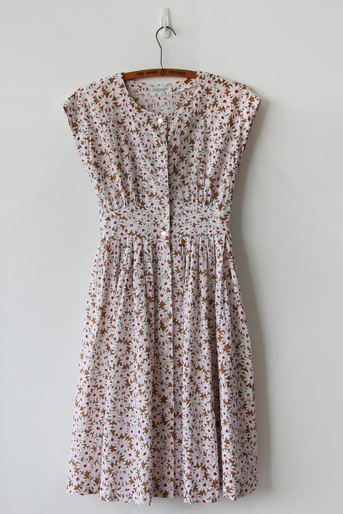 Image of SOLD Flower Field Eyelet Cotton Dress