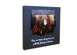 "Image of ""May our home always be warm with the feeling of whānau"" Miniature kākahu"