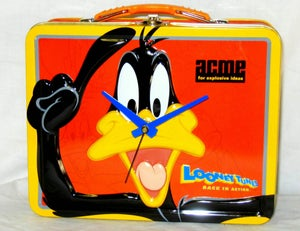 Image of Daffy Duck lunchbox clock