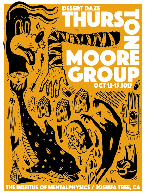 Image of CLEARANCE - Thurston Moore Group Poster (Hayden Menzies) - Desert Daze 2017