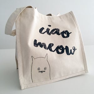 Image of 'Ciao Meow' organic canvas bag