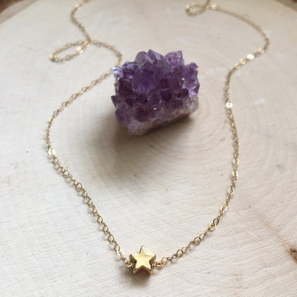 Image of Mini star charm necklace