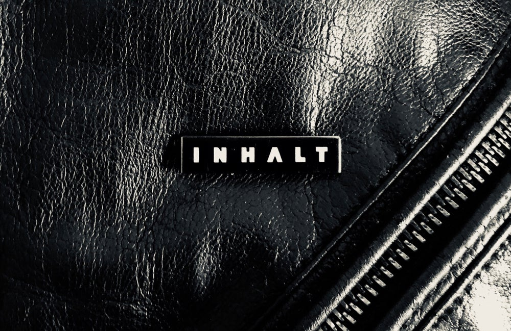 Image of INHALT Logo Polished Black Nickel Enamel Pin