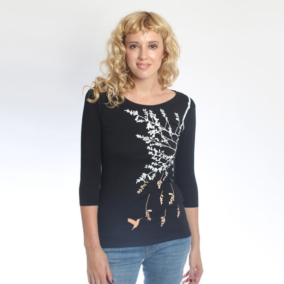 Image of BlackHummingbird 3/4 sleeve