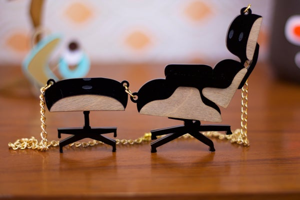Eames Chair Necklace - Black Heart Creatives