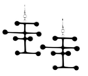 Mid Century Modern Dot Earrings - Black Heart Creatives