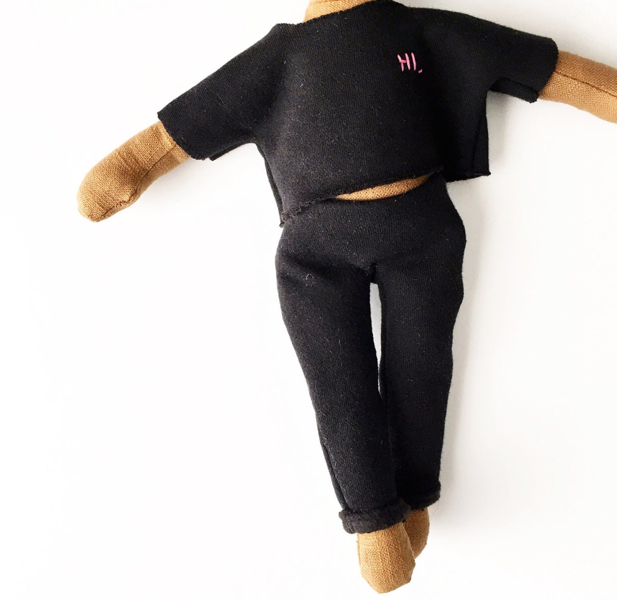 Black raw cut HI. sweatsuit - 2pc doll accessory (PLEASE NOTE: THIS ORDER WILL SHIP ON OR BEFORE NOV