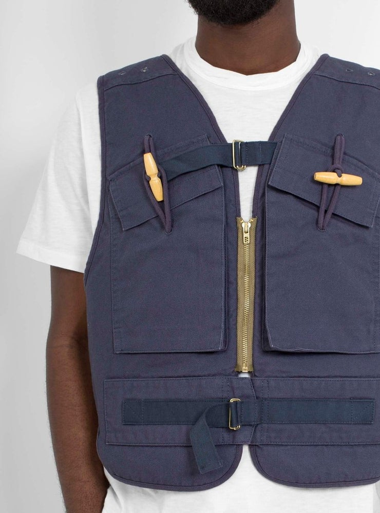 Image of Garbstore Bren Vest Navy