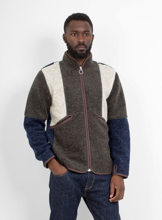 Image of Garbstore Robinson Fleece Jacket Charcoal