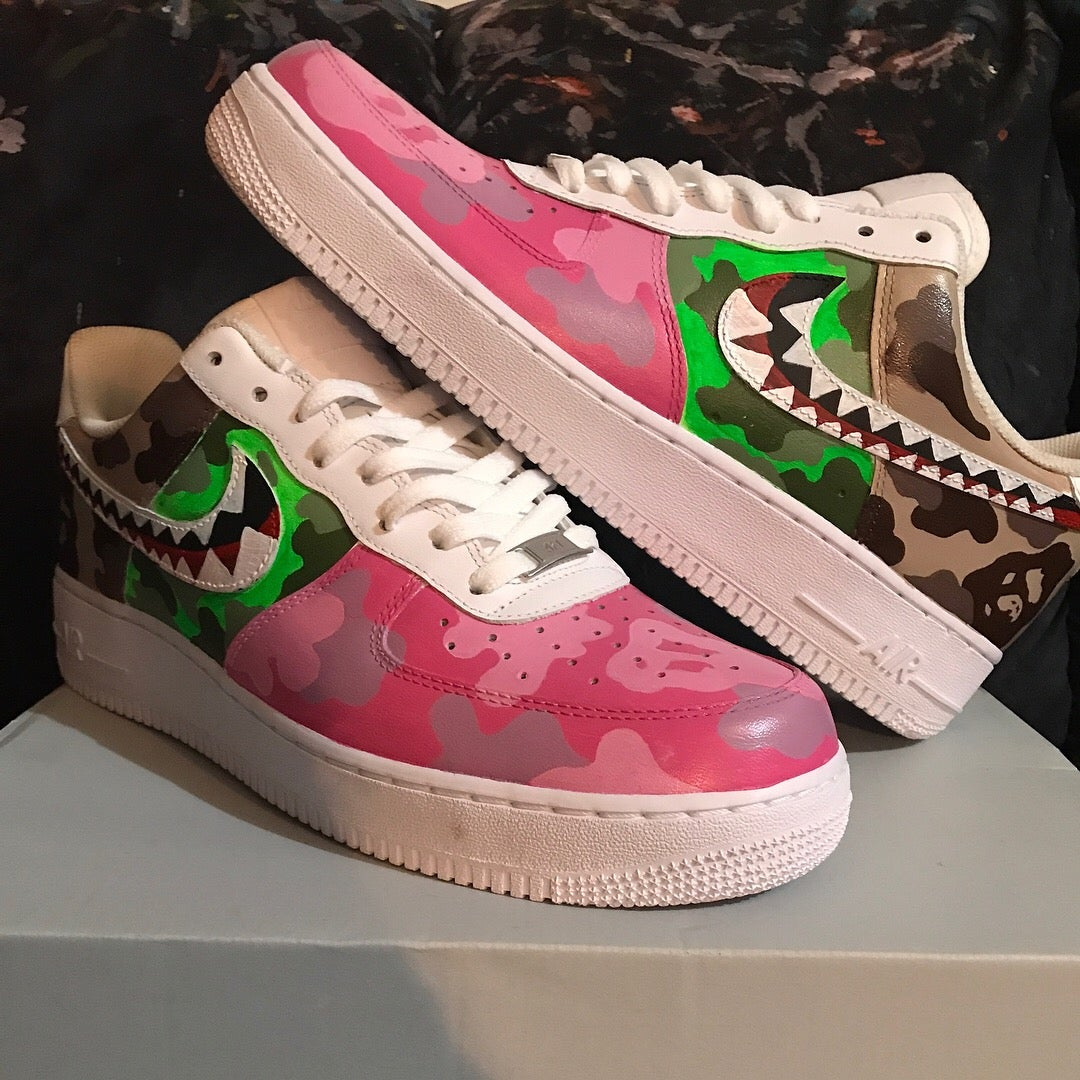 finest selection 7d476 e02be Bape Inspired Low AF1s