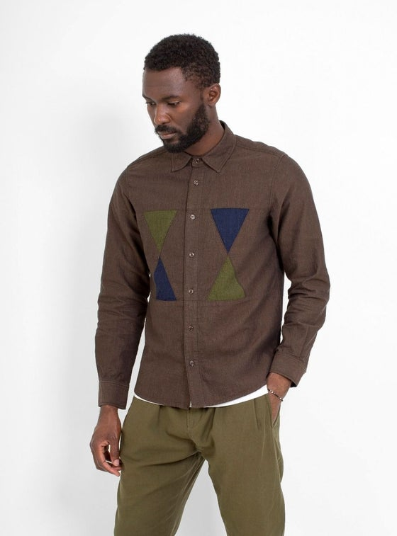 Image of Garbstore Facet Shirt Chocolate