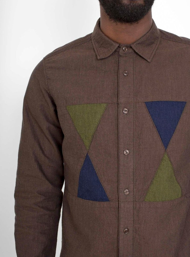 Image of Garbstore Facet Shirt Chocolate