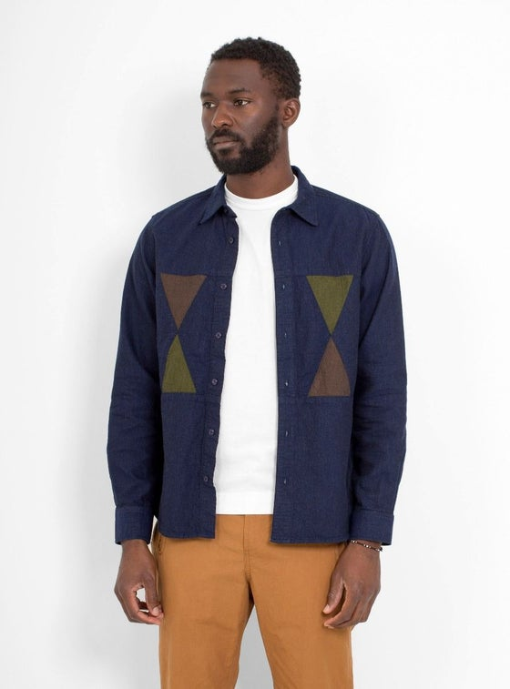 Image of Garbstore Facet Shirt Navy