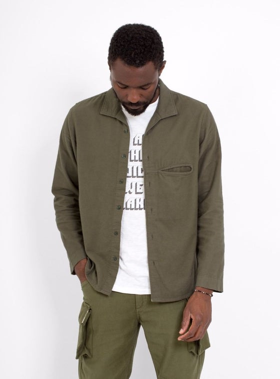 Image of Garbstore L/S Slacker Shirt Brown