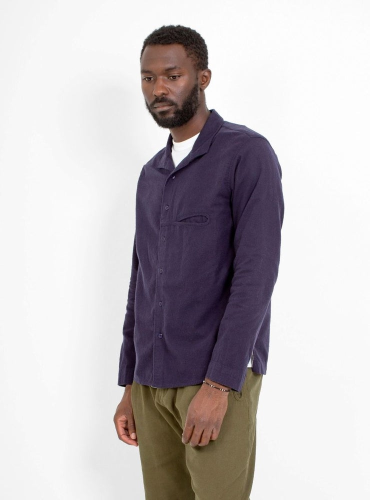 Image of Garbstore L/S Slacker Shirt Navy