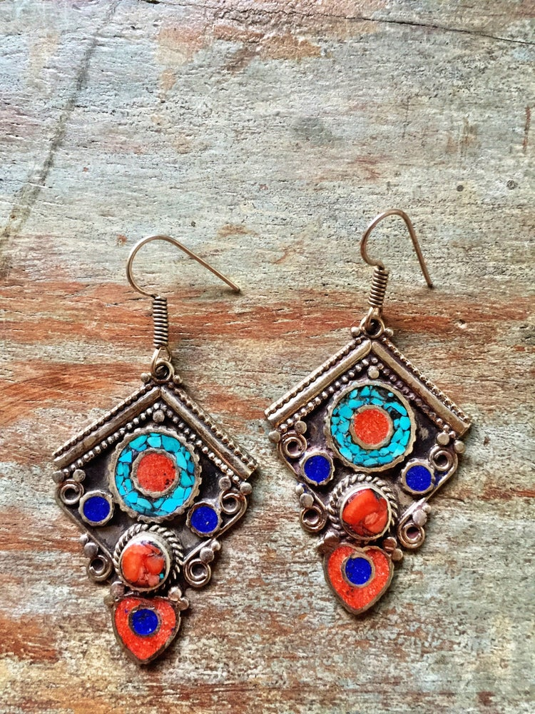 Image of Nepalese earrings #6