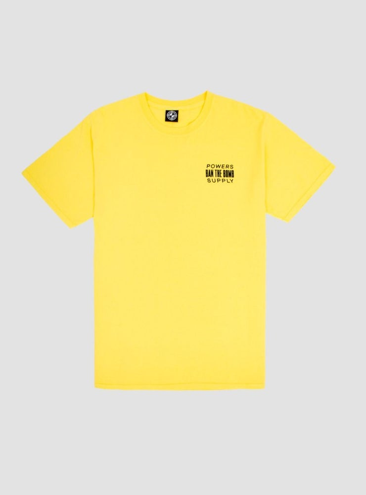Image of Powers Ban The Bomb T-Shirt Mustard