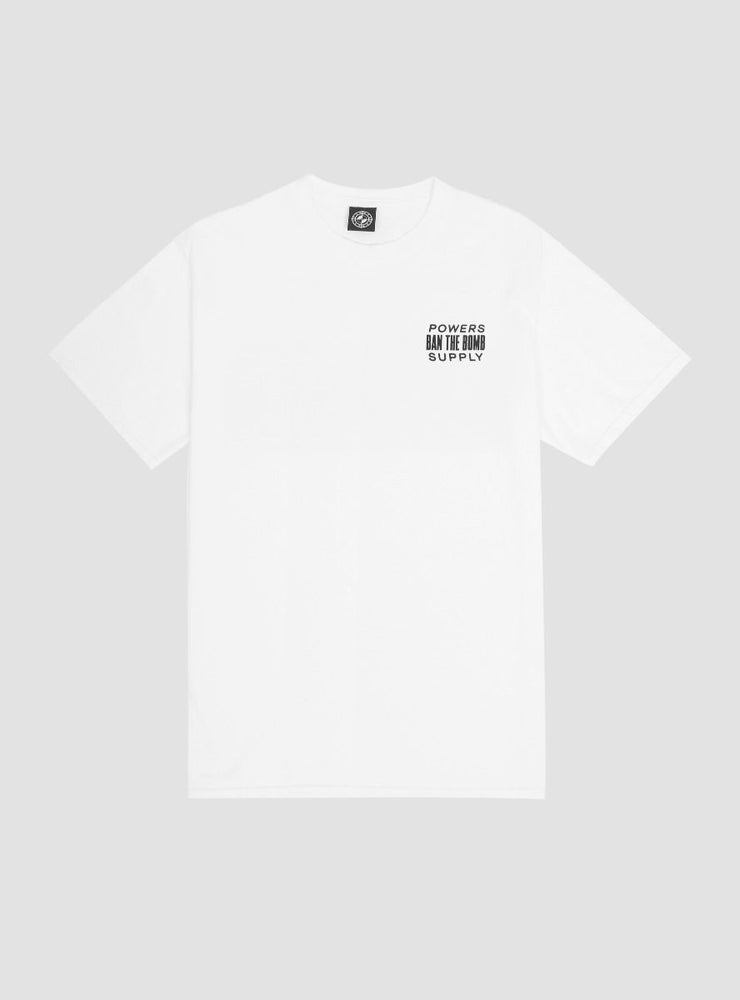 Image of Powers Ban The Bomb T-Shirt White