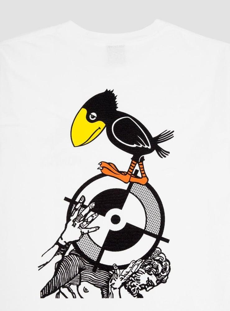 Image of Powers Sad Crow T-Shirt White