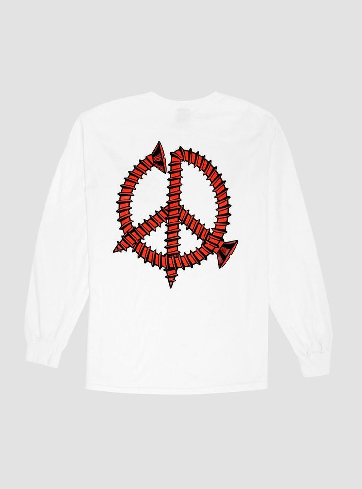 Image of Powers Screw Peace L/S White