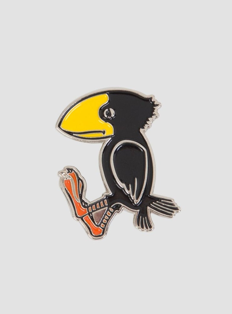 Image of Powers Sad Crow Pin