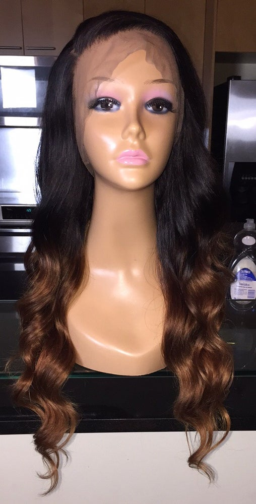 "Image of Brazilian Body Wave Ombre' 22"" Custom 360 Lace Frontal Wig!"