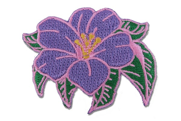 Image of Flower Iron On Embroidered Patch