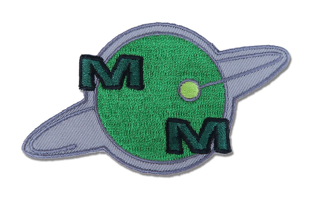 Image of Meteor Man Iron On Embroidered Patch
