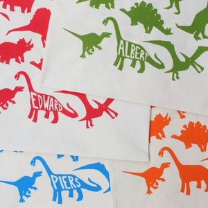 Image of Personalised Dinosaur Drawstring Tote