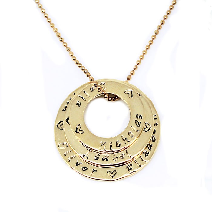 "Image of ""Circle of Love"" Stack 9K gold Necklace"