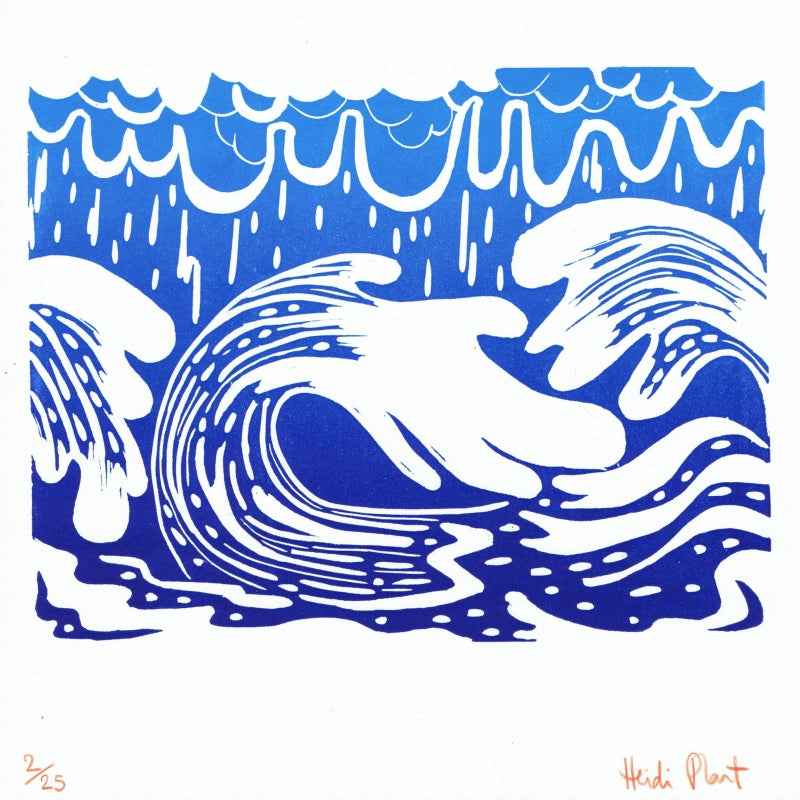Image of A Bigger Wave : original editioned print by Heidi Plant