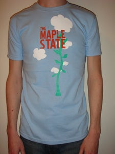 Image of sky blue beanstalk t-shirt