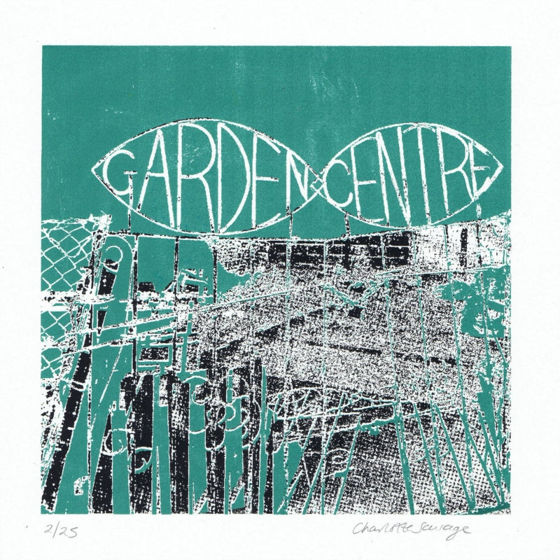 Image of Garden Gate : editioned screenprint by Charlotte Savage