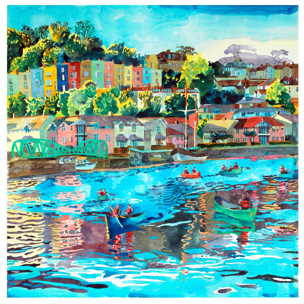 Image of Paddling Along Bristol Harbour