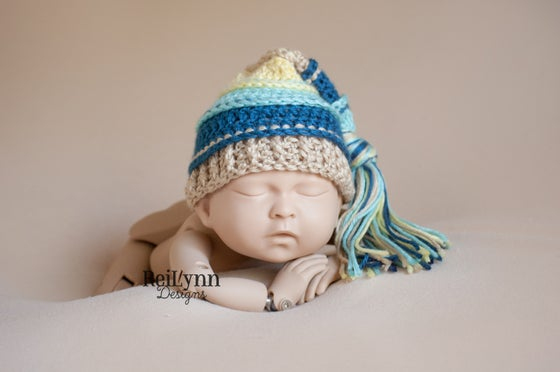 Image of Aqua, Ocean, Bone and Baby Maize Tassel Hat