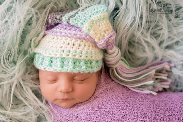 Image of Lavender, Ivory, Mint, Gray Tassel Hat