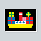 Image of Presents Boat card