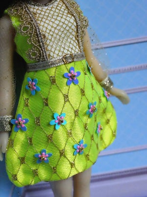 Image of Lounging Linda ~ Fabergé Egg Dress ~ Chartreuse